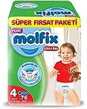 Molfix 3D Külot Bez Maxi (4) Beden, Super Fırsat Paketi 76 Adet
