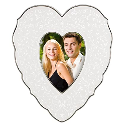 Amazon.com - Lenox Picture Frame, Opal Innocence Heart 4\