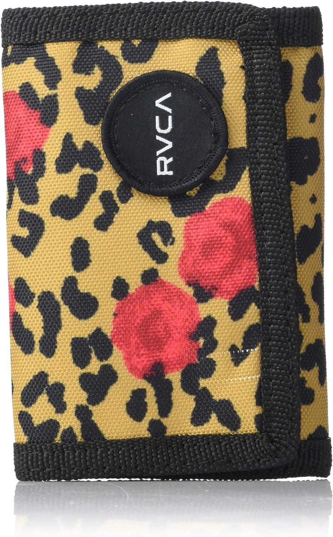 RVCA Men's Tri-Fold Wallet, KHAKI, ONE SIZE: Clothing