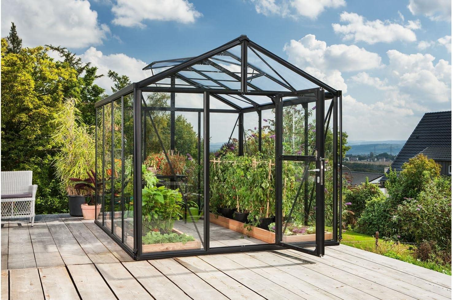 vitavia – Invernadero Zeus 8100, BXT: 266 x 324 cm, Negro Negro: Amazon.es: Jardín