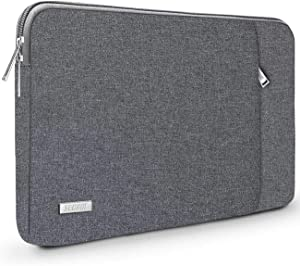 """TECOOL 14 Inch Laptop Sleeve Protective Case Cover with Front Pocket for HP 14"""" HD/Stream 14/Pavilion 14, Lenovo 14"""" IdeaPad 3 ThinkPad T490, Dell Acer ASUS 14"""" Notebooks Chromebooks, Dark Grey"""