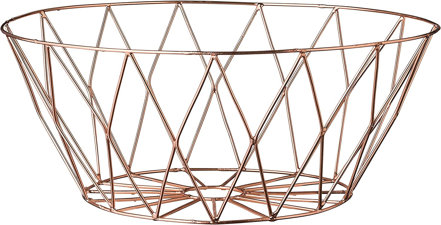 Bloomingville Small Metal Basket with Copper Plated Finish