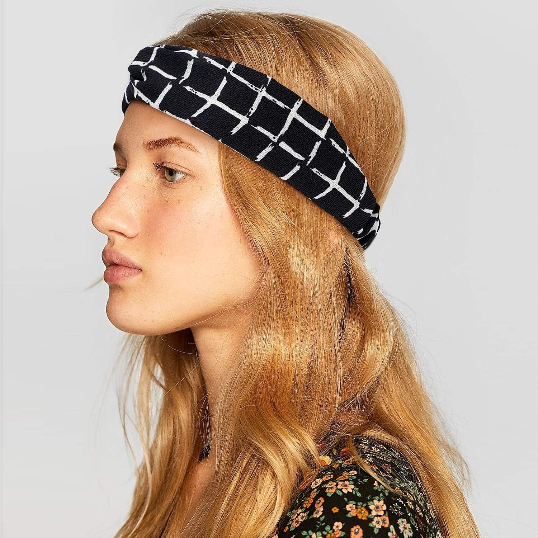 Bascolor Bandeau Cheveux Femme fleur imprimé Hair Bande élastique Turban Cheveux Sport Headband pour femme Cheveux Accessoire (10pcs floral imprimé