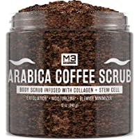 M3 Naturals Arabica Coffee Scrub Infused with Collagen and Stem Cell - Natural Body...