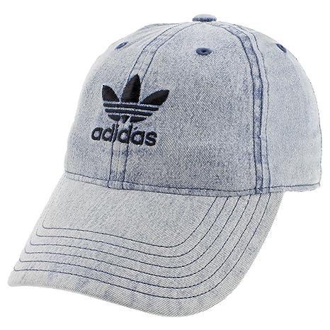 71129841000 adidas Originals  アディダスオリジナルス  Relaxed Denim Strap-Back Cap デニム トレフォイル