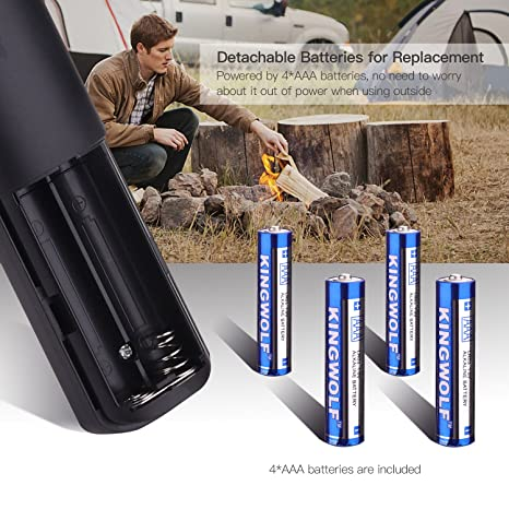 Amazon.com: Lighter, Tacklife Electric Arc Lighter, Flameless Electronic Lighter with AAA Battery, Safety Switch & Splash & Wind Proof for Candles,BBQ ...
