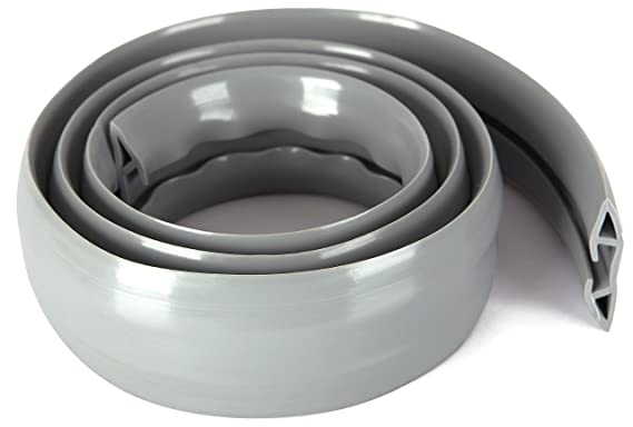 2 m lang flexibler PVC-Schlauch Elfenbein leicht zu /öffnen im B/üro geruchsfrei stabiler Kabelschutz mit 1 gro/ßem Kabelkanal ProTech Lager /& der Werkstatt f/ür ordentliche Kabel zu Hause