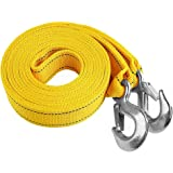 Selectec 6 Tons Tow Strap Heavy Duty with 2 Hooks,20 ft 13,000LB Break Strengthened Towing Rope for ATV Recovery