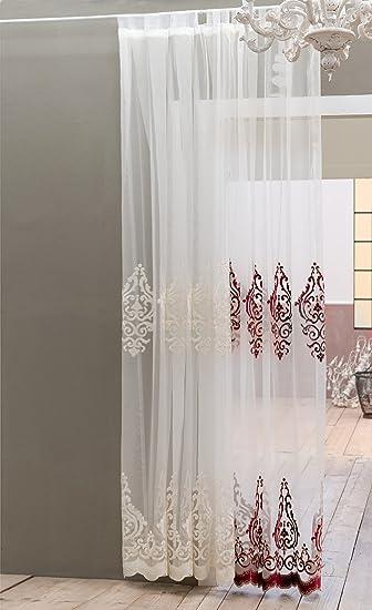 Amazon.de: Tenda Shabby Chic Barocco Collection 140 x 290 cm Colore ...