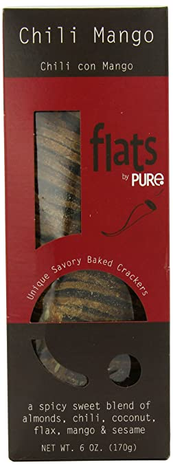 Pure Indulgent Foods Crackers, Chili Mango Savoury, 6 Ounce