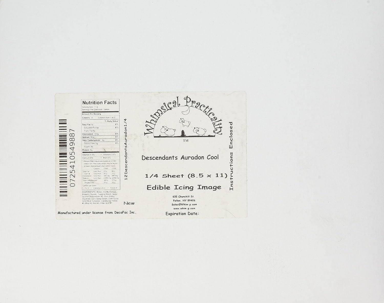 1//4 Sheet Whimsical Practicality 12DescendantsAuradon1//4 Auradon Cool Edible Icing Image Cake Topper