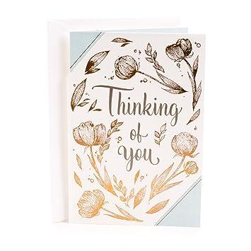 Amazon hallmark thinking of you greeting card brighten your hallmark thinking of you greeting card brighten your day flower pattern m4hsunfo