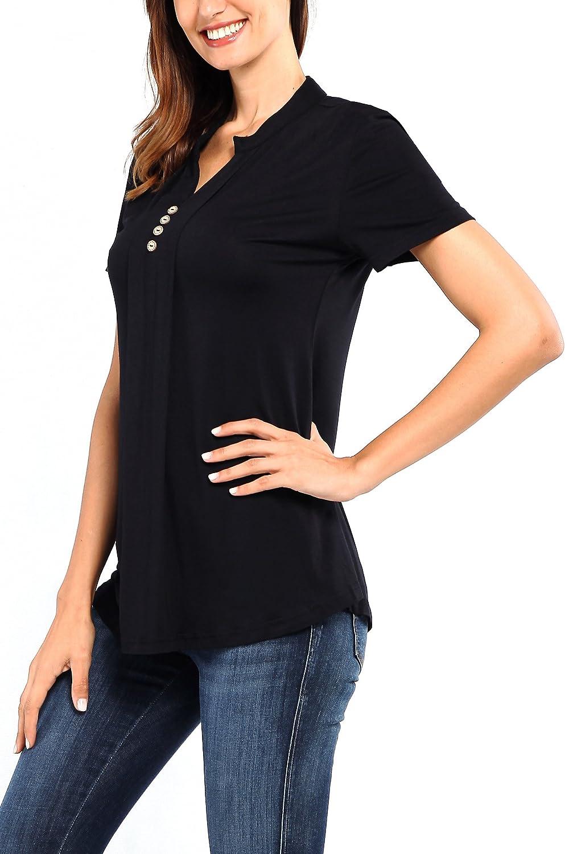 Amazon.com: Tencole - Blusa de manga corta para mujer, con ...