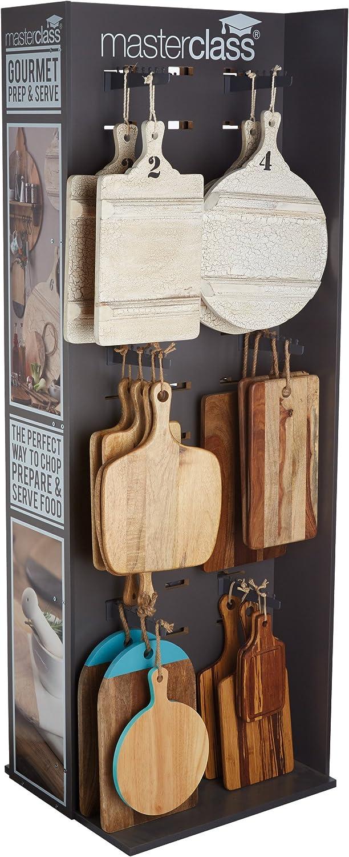 madera de mango Master Class Tabla de cortar cuadrada con asa