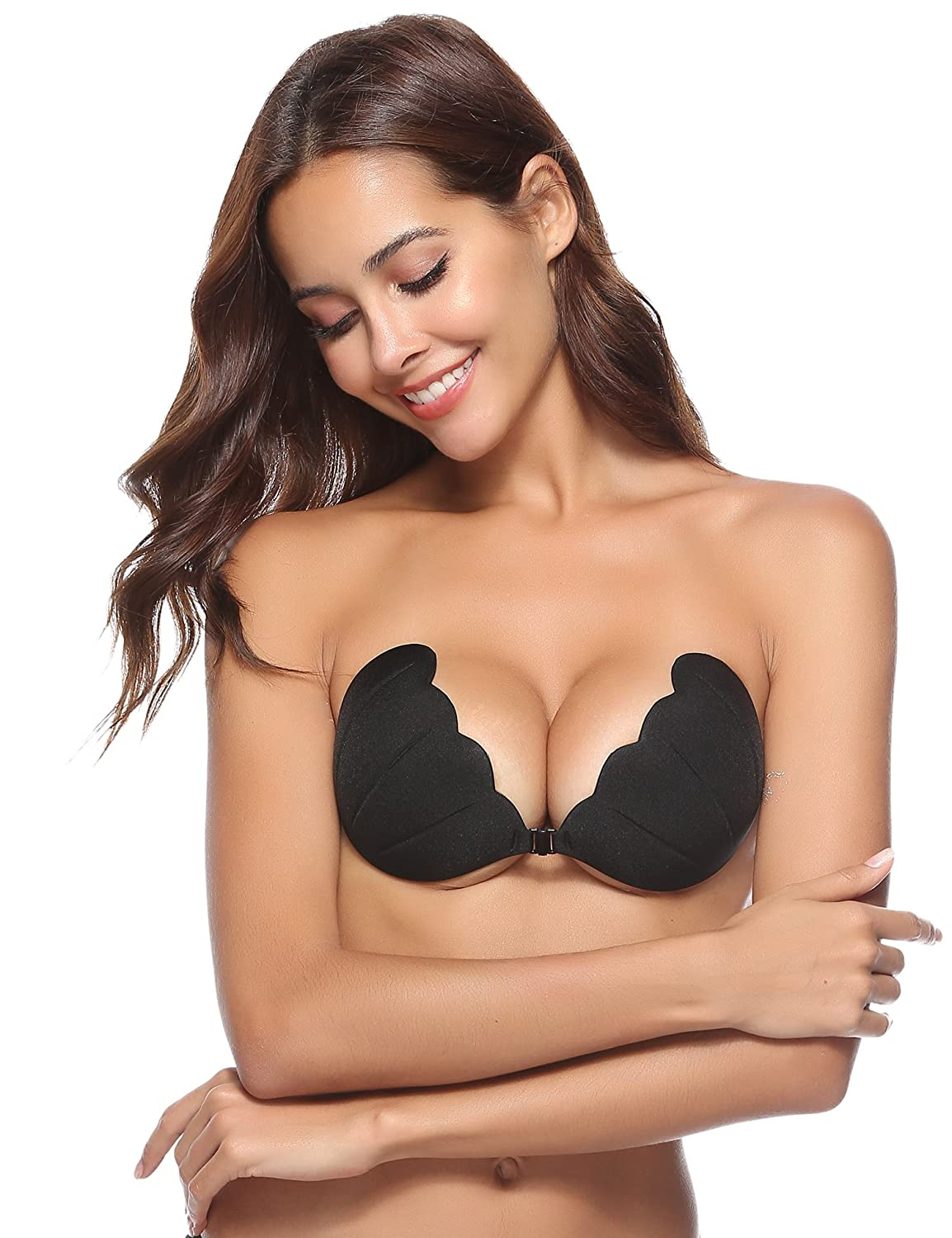 Aibrou Self Adhesive Silicone Invisible Push-up Bra with Adjustable Clear Straps AM16070503