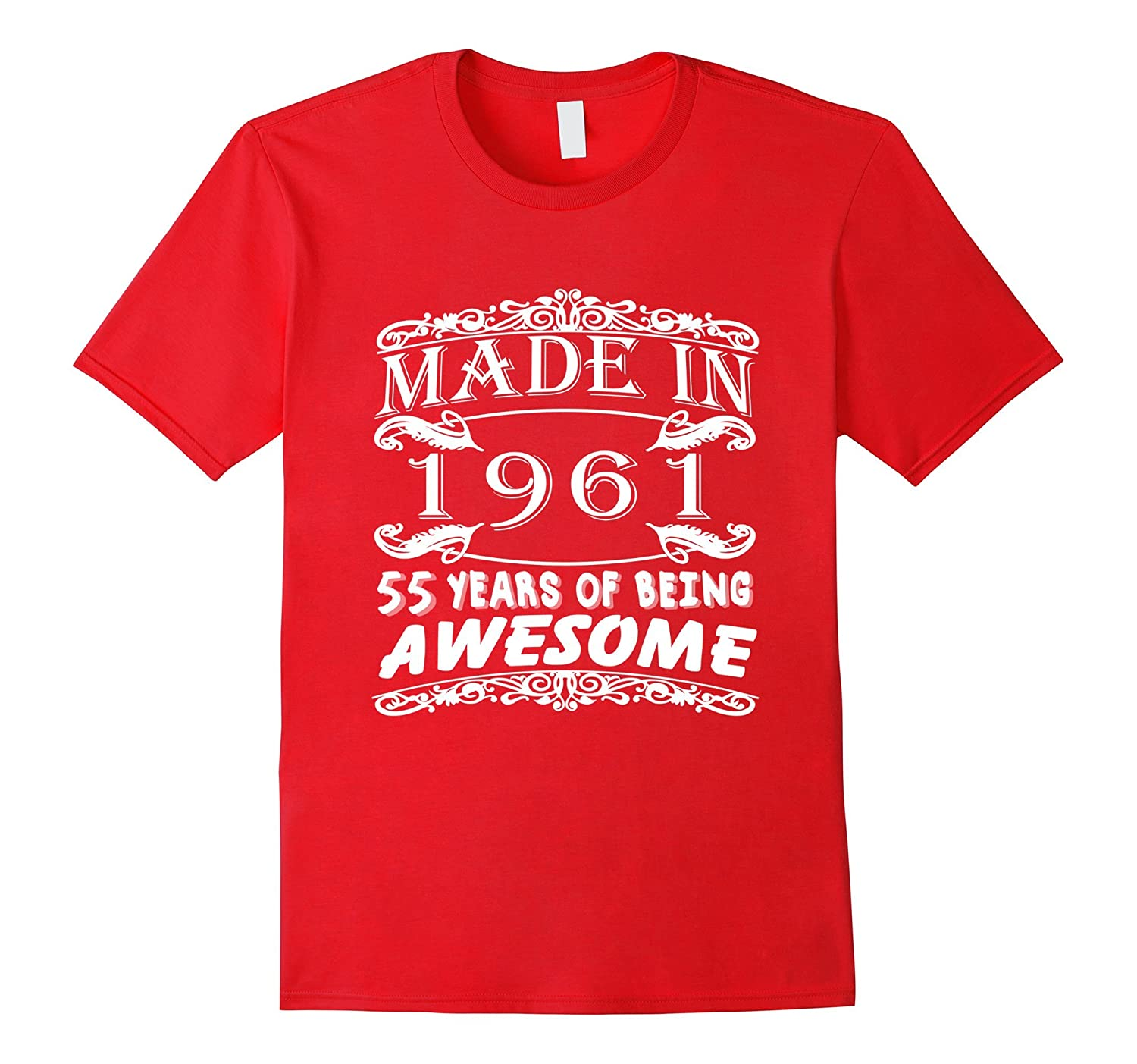 Awesome Age 55 Years 1961 Perfect 55th Birthday T Shirt BN Banazatee