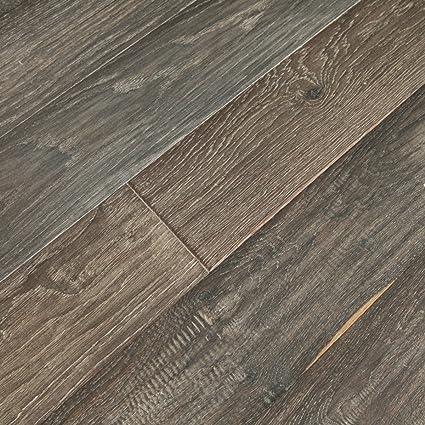 Vintage Ebony Sample White Oak Wide Plank Uv Oiled Engineered Hardwood Floor