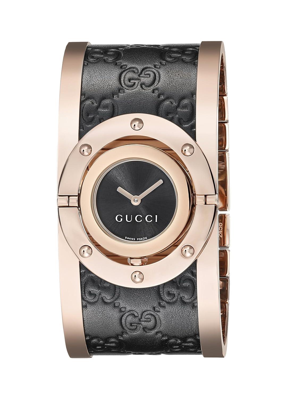 6925d0e1c6f Gucci Women s YA112438 Twirl Analog Display Swiss Quartz Black Watch   Amazon.ca  Watches