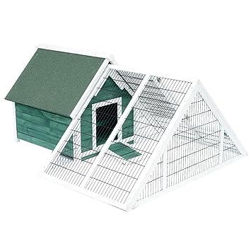 Pawhut Large Wooden Garden Poultry Ark Chicken Coop Hen Birds Rabbit Hutch Cage Pet House Outdoor Run Play Wramp Nest Box