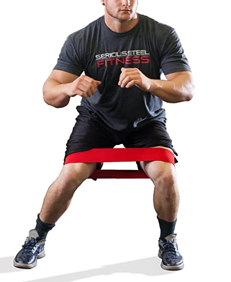 Serious Steel Fitness Hip and Glute Activation Band | Squat & Deadlift  Warm-up Band for Hips and Glutes