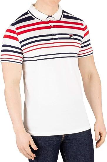Fila Hombre Geeza Stripe Poloshirt, Blanco: Amazon.es: Ropa y ...