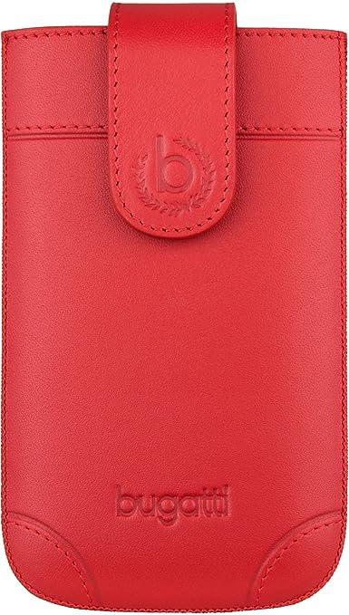 bugatti London Echtledertasche für Samsung Galaxy A3 (2016), Sony Xperia Z3 Compact / Z5 Compact, UVM. - Rot [Größe: XL Handa