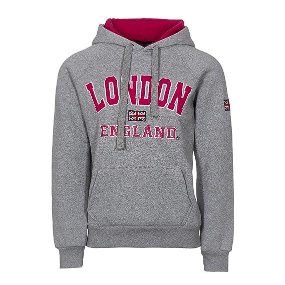 Sudadera con capucha para mujer, con impresión de la bandera de Inglaterra y el mensaje impreso «London» y «England», con capucha, gran calidad: Amazon.es: ...