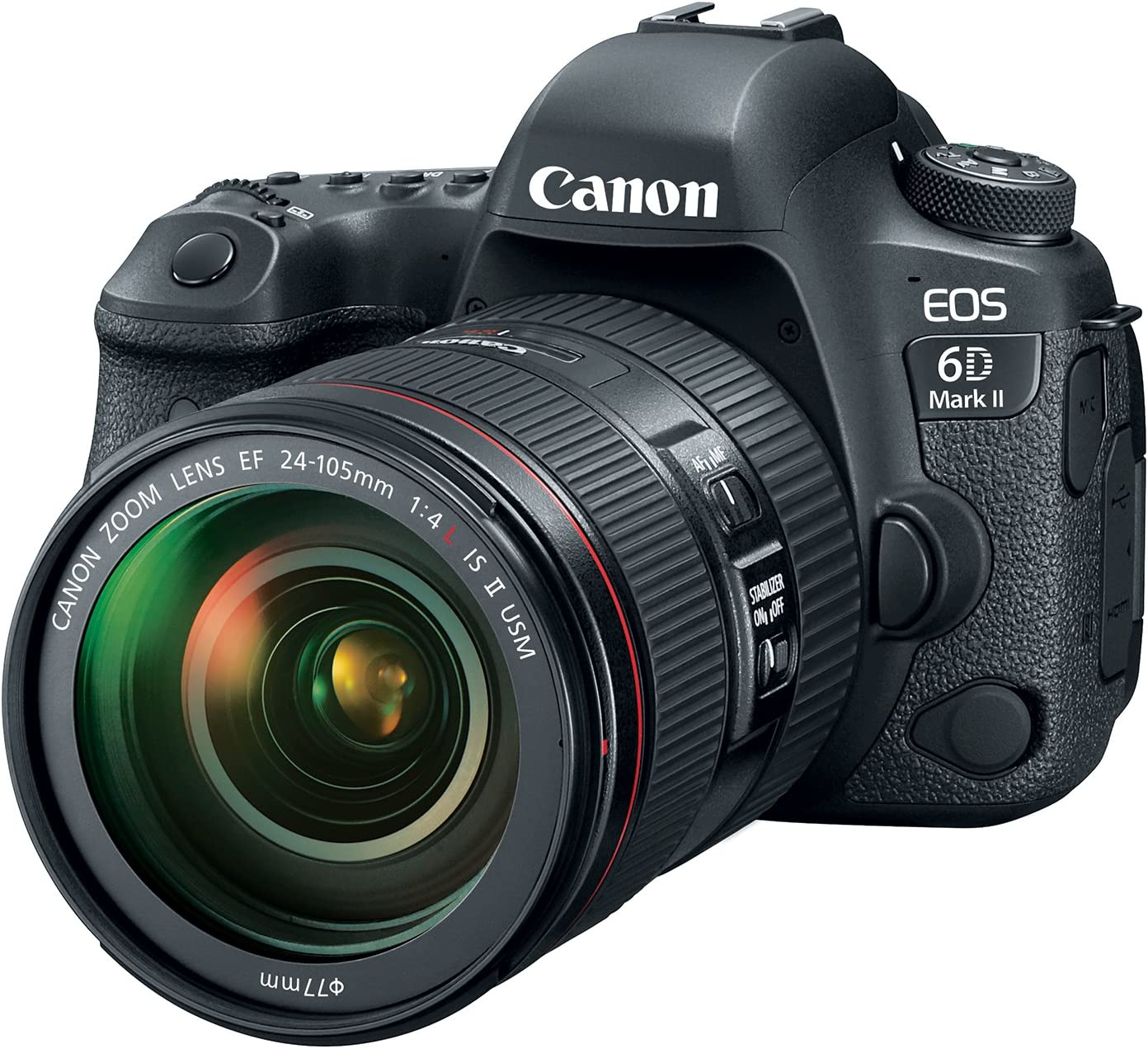 Canon EOS 6D Mark II DSLR Camera with EF 24-105mm USM Lens - WiFi Enabled