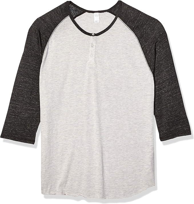 Henstenve Mens Short Sleeve Henley Shirt Ruched Pleated Summer Basic Raglan Tshirt