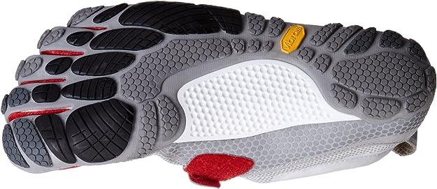 Vibram Five Fingers Bikila - Zapatillas de fitness de cuero para hombre, Gris / Rojo, EU 42: Amazon.es: Zapatos y complementos