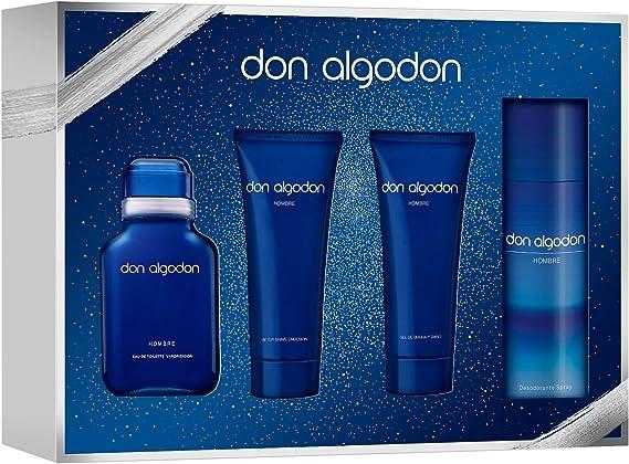 DON ALGODON pack colonia 100 ml + gel 75 ml + aftershave 75 ml + deo 150 ml: Amazon.es: Alimentación y bebidas