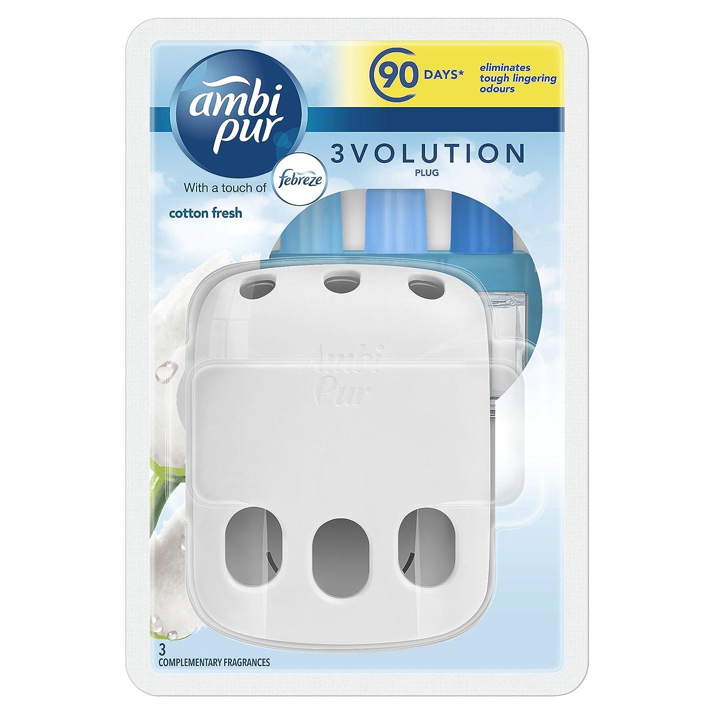 Ambi Pur Cotton Air Freshener Plug-in Starter Kit, 20 ml, Pack of 3 Procter & Gamble 81612106