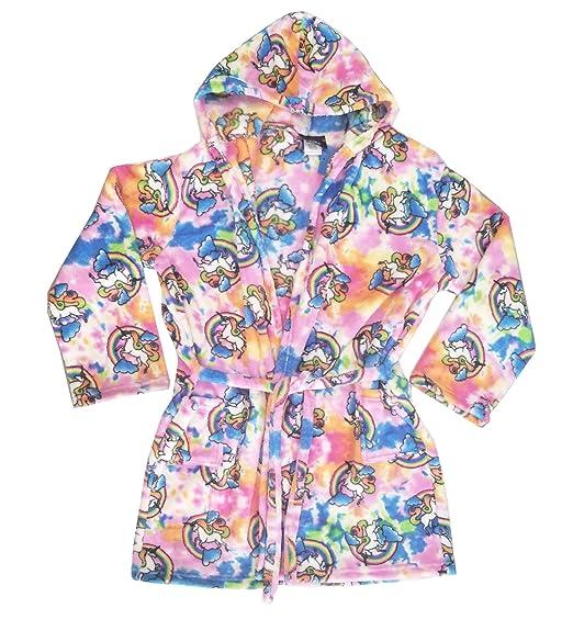 cf0e7aa4045c Confetti and Friends Kid s Fuzzy Plush Robe with Hood - Rainbow Unicorn