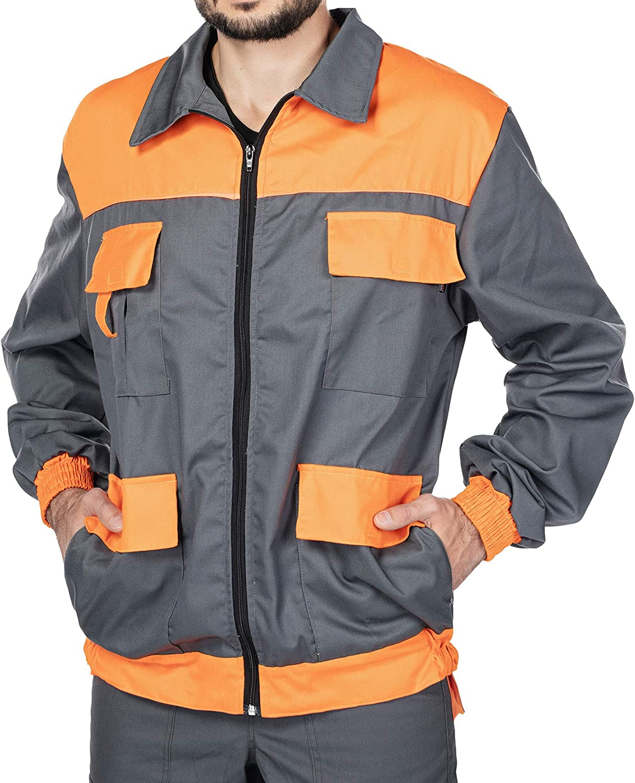 Mazalat Men's work jacket, protective jacket with many pockets, work jackets,  men's jacket with chest pocket, quality jacket, work wear men.: Amazon.de:  Bekleidung