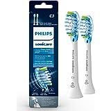 Philips Sonicare Premium Plaque Control RFID Replacement Brush Heads, 2 Pack, HX9042/65, White