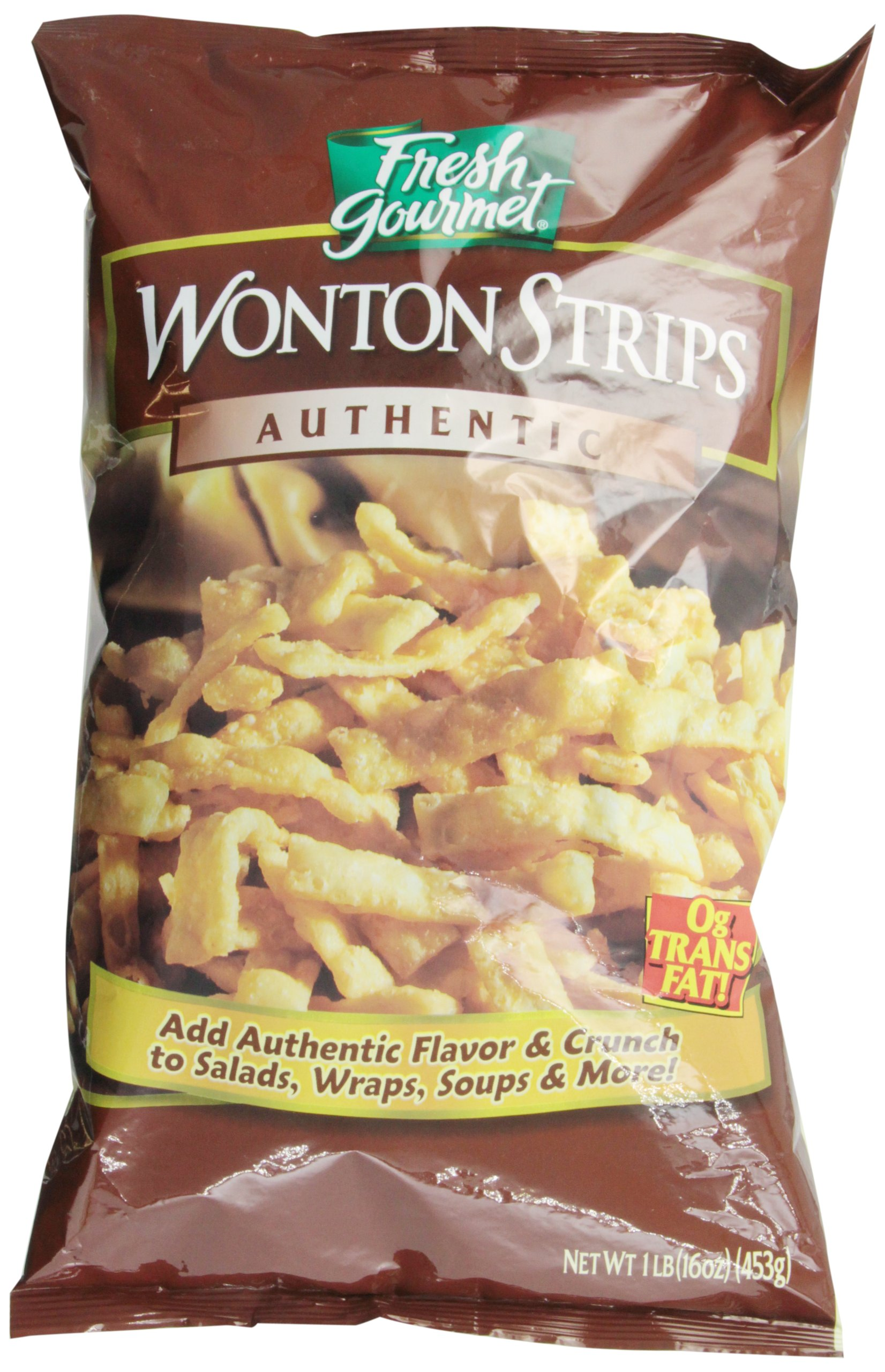 Fresh Gourmet Wonton Strips, 1 Pound