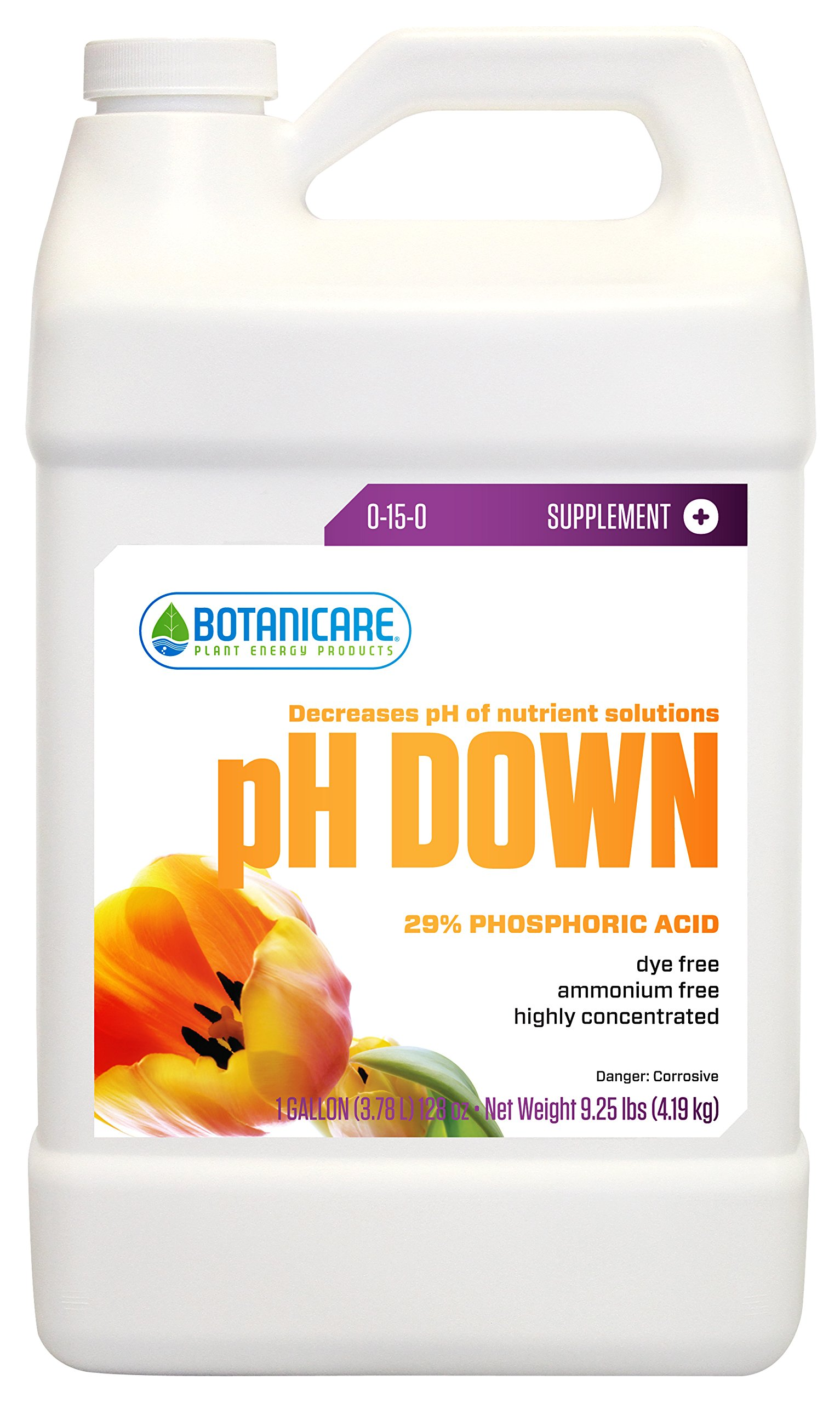 Botanicare pH DOWN Plant Supplement 0-15-0 Formula, 1-Gallon