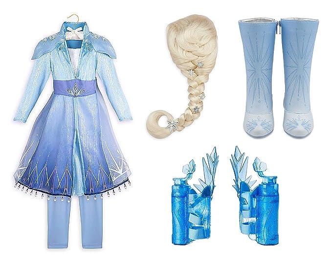 Amazon.com: Disney Store - Disfraz de Elsa de Frozen 2 para ...