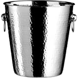 Premier Housewares Stainless Steel Hammered Effect Champagne Bucket, 20 x 22 x 22 cm