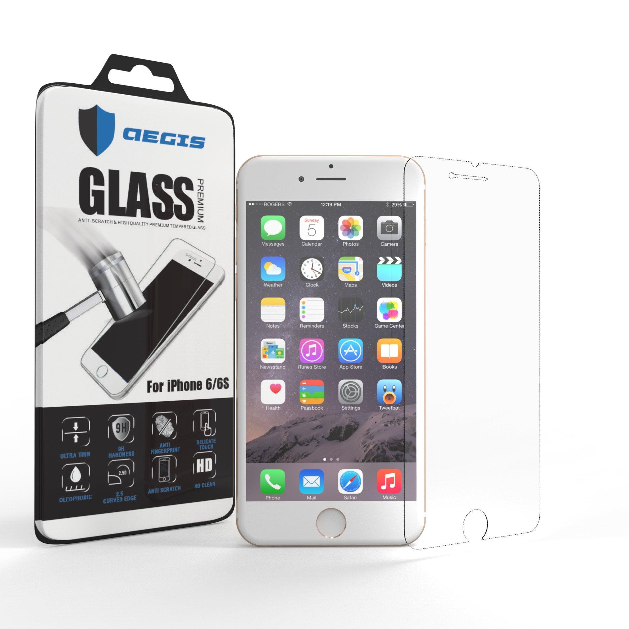 Iphone 6S Screen Protector Aegis Defender Premium Tempered Glass Shockproof .. 14