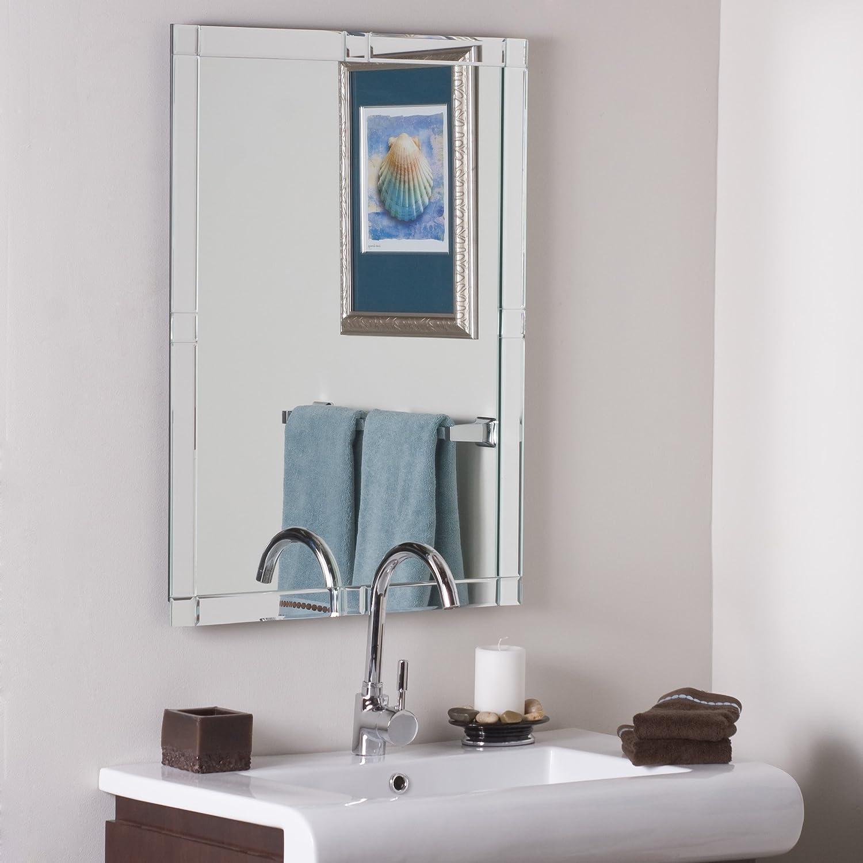 Decor Wonderland Frameless Beveled Kinana Mirror