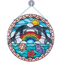 Melissa and Doug MD9291 Dolphins Stained Glass Made Easy Craft Kit