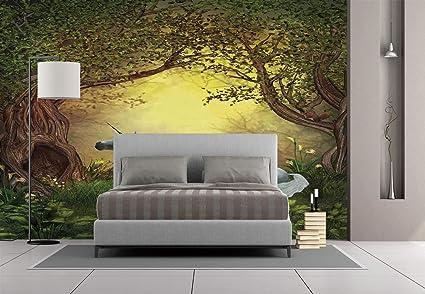 Amazon Com Large Wall Mural Sticker Unicorn Enchanted