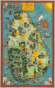 Amazon.com: Old Historical Vintage Map of Ceylon Sri Lanka