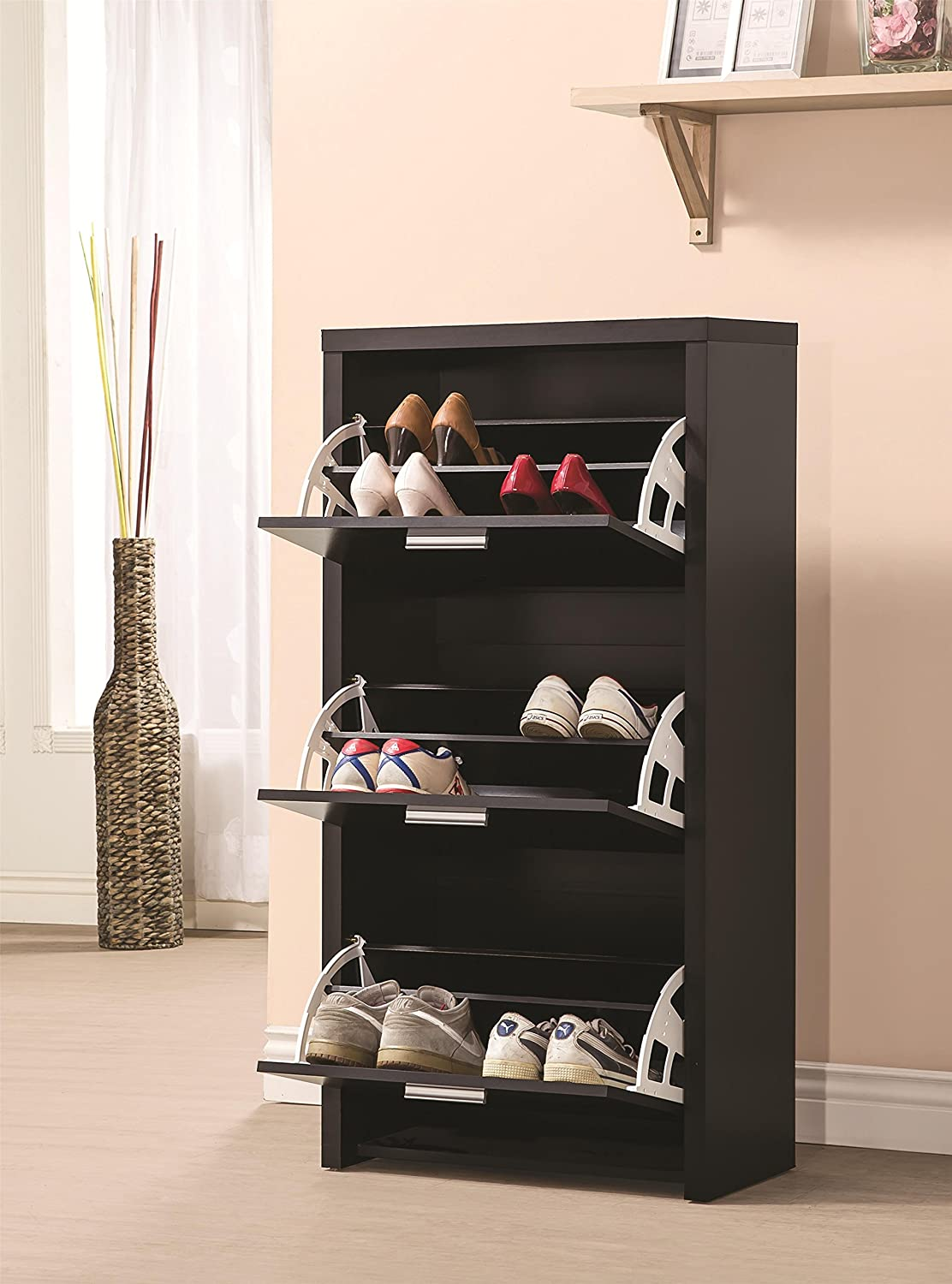 shoes cabinets furniture. amazoncom coaster 900604 home furnishings shoe cabinet black kitchen u0026 dining shoes cabinets furniture m