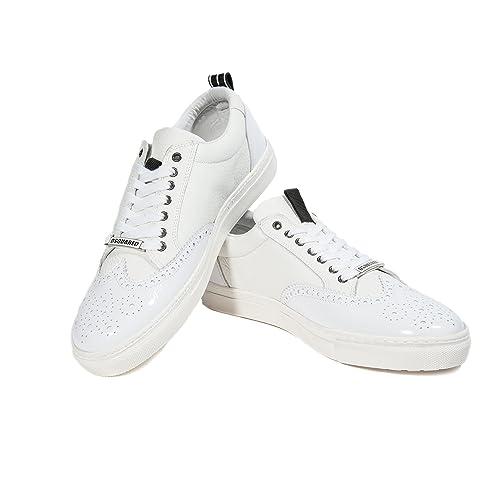 DSquared - Zapatillas para hombre blanco blanco, color blanco, talla 43 EU: Amazon.es: Zapatos y complementos