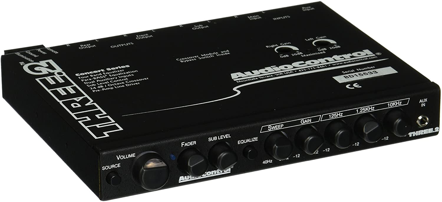 Audio Control Three 2-In-Dash Car Stereo Equalizer