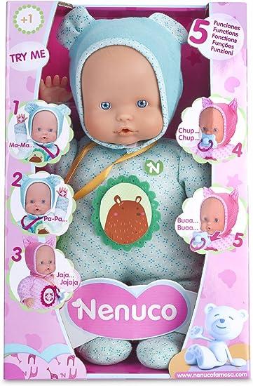 Nenuco Famosa 700012664 Soft Bambola, 5 Funzioni, 30 Cm, Azzurra