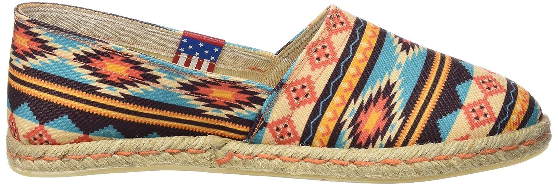 MISS HAMPTONS New Mexico, Espadrillas Basse Donna, Multicolore (Muticolor), 36 EU