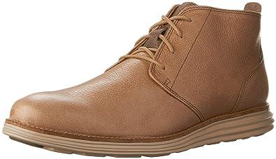 689f4eba1a67c Cole Haan Men s Original Grand Chukka Desert Taupe Leather Cobblestone Boot  7 W - Wide